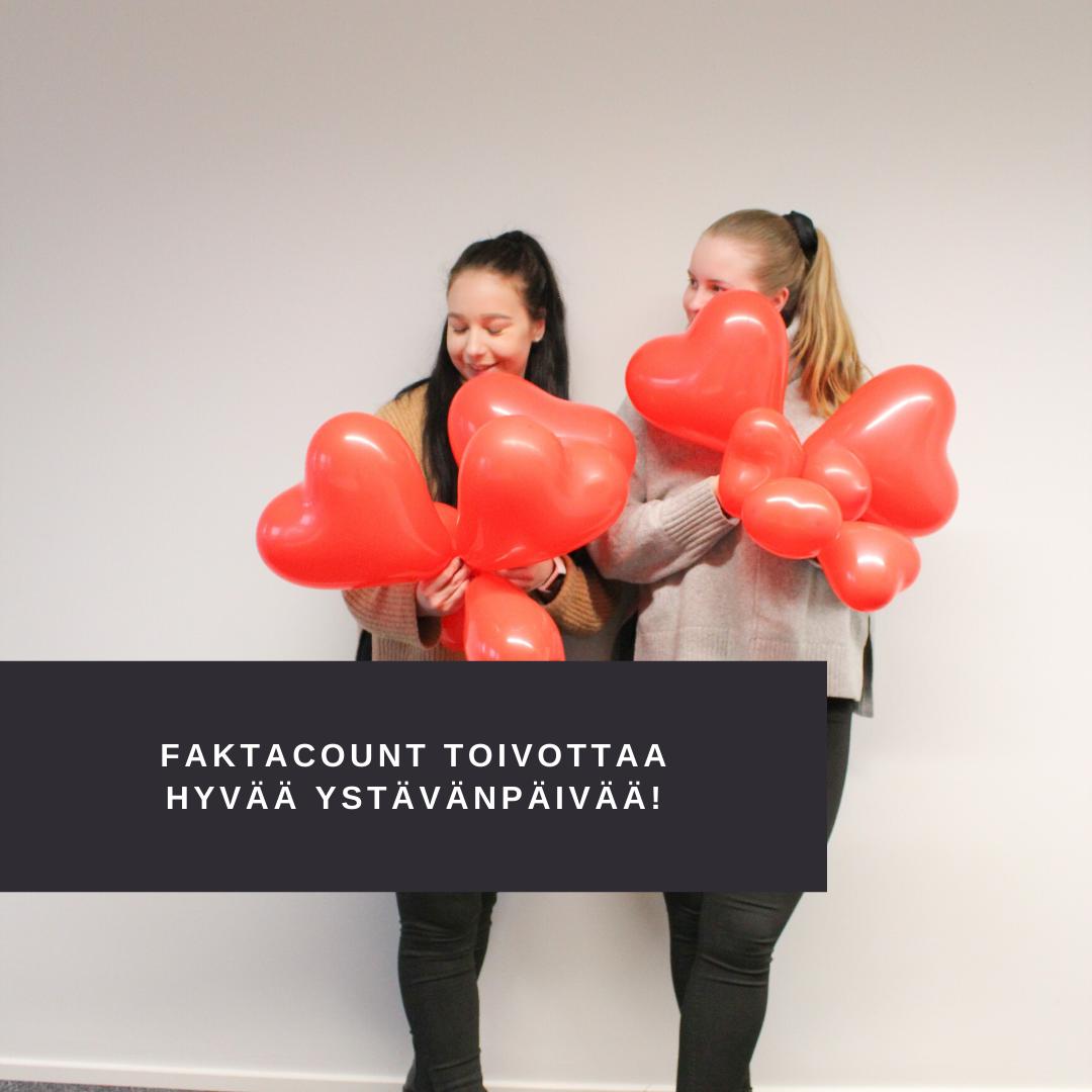 FaktaCount toivottaa kaikille hyvää ystävänpäivää! 1