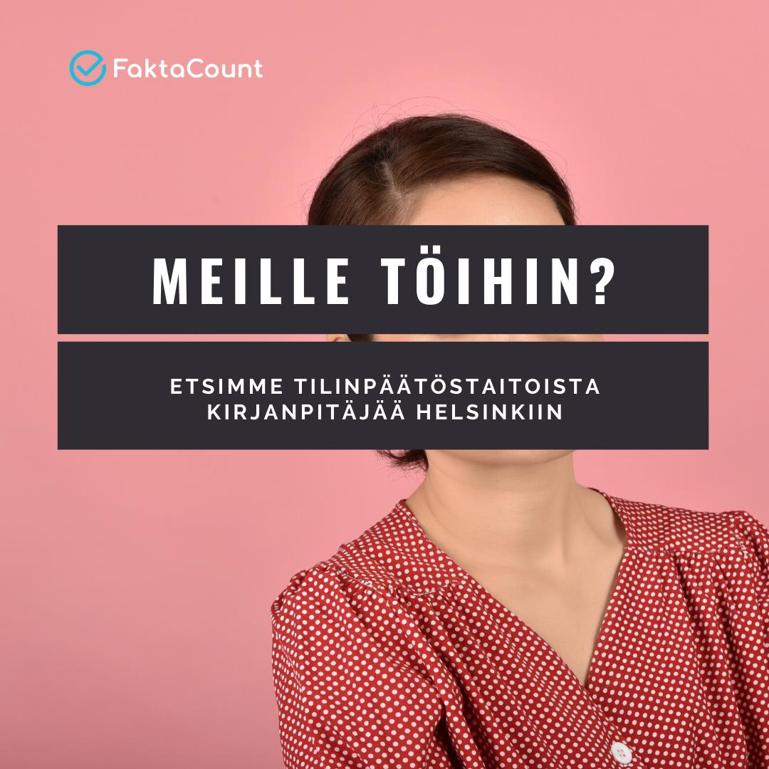 Haemme jälleen uutta työkaveria pääkonttorillemme Helsingin Pukinmäkeen. Oletko se sinä?🥰 1